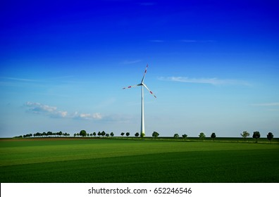 Production of alternative energy, solar panels and wind generators,in summer