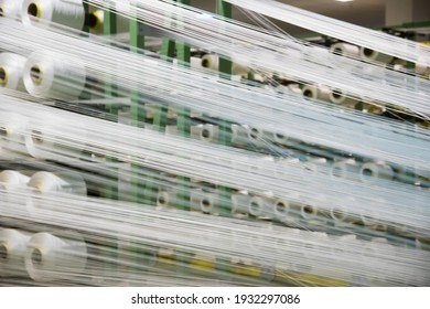 Production of fabric in factory conditions from white threads