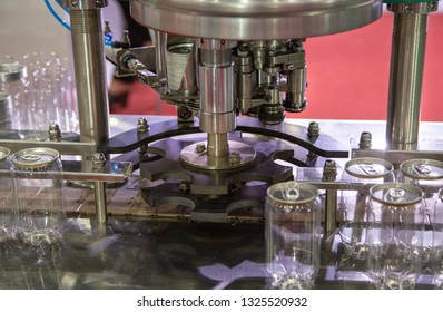 Production line of automatic ring pull can sealing machine