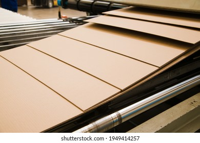 Production line for the production of cardboard and corrugated cardboard in the factory