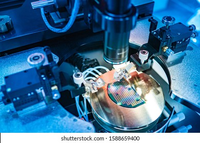 Production of miniature printed circuit boards. The electronic equipment of the laboratory. Robot for assembling electronic components. High-precision machine. Production automation.