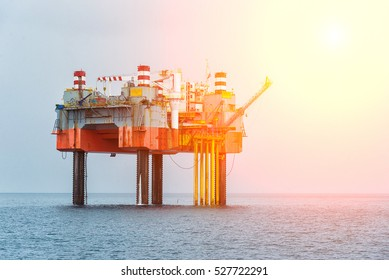 Production platforms, oil and gas development.