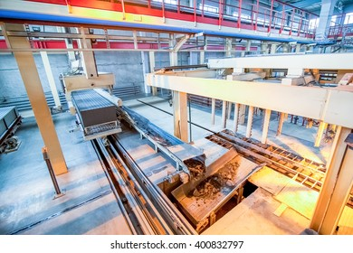 Production process of aerated concrete blocks