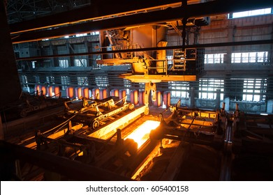 The production process in the rolling mill