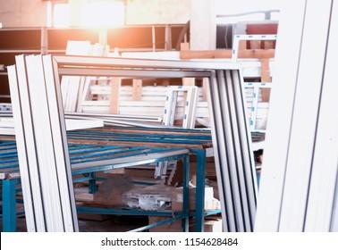 Production of PVC windows, plastic pvc frames, sun, shop