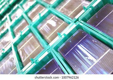 production of solar cells - wafer modules for final assembly
