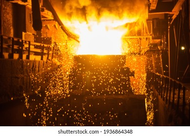 production of steel and heavy metals in an electric furnace in production