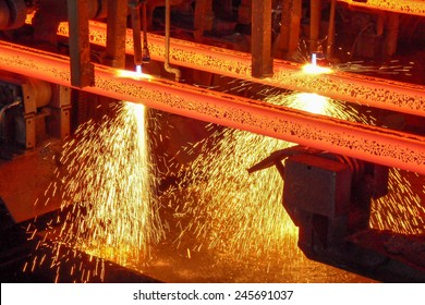 Production of steel in a steel mill