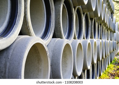 Concrete Pipes with Sealing Sleeve Images, Stock Photos