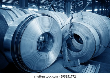 The production of zinc-coated steel mill.