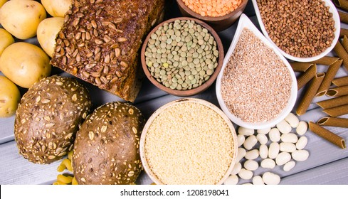 Products containing complex carbohydrates. A source of energy, vitamins and fiber.