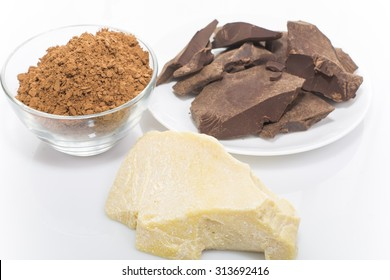 products of processing cocoa beans