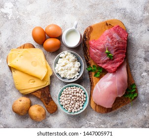 Products rich in amino acids. Protein sources and food for bodybuilders