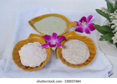 Products scrubs, body scrubs, spa treatment.