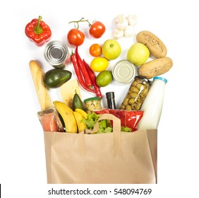 A lot of products in shopping bag