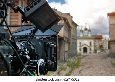Professional 35 mm the film-chamber on set