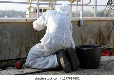 Professional asbestos abatement