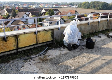 Professional asbestos abatement