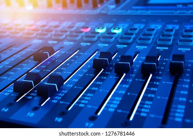 Computer Detail Blue Tone Keyboard Business Stock Photo (Edit Now