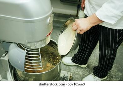 Professional breadmaking making bread