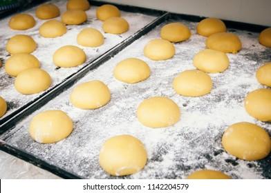 Professional breadmaking making bread in Food industry