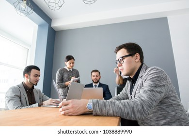 Professional business team office-based workplace concept