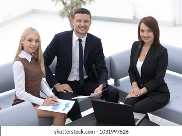 professional business team working with financial documents.