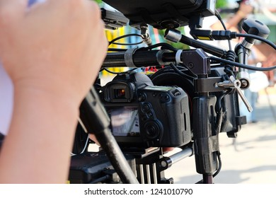 Professional camera equipment  background