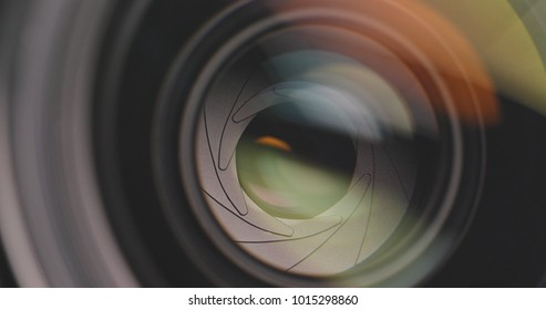 Professional Camera lens focus and zoom