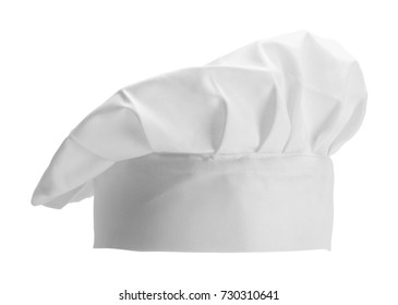 Professional Chef Hat Short Isolated on a White Background.