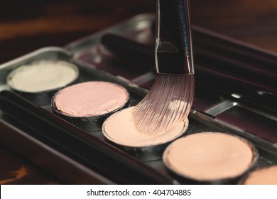 Professional cosmetic. Cream concealer. Working with skin defects.
