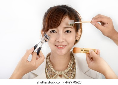 Professional cosmetic make up and beauty woman model