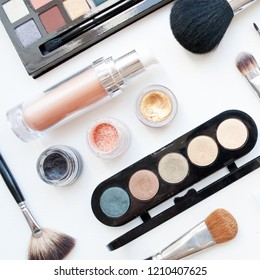Professional cosmetics on a white background