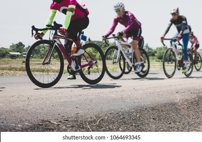 Professional cycling race,group of cyclist.
