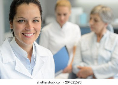 Professional dentist  woman nurse with patient woman dental surgery