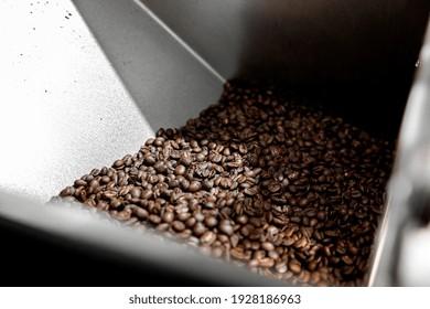 Professional handmade coffee roasting process