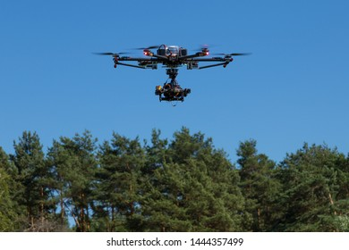 professional hexacopter drone with camera
