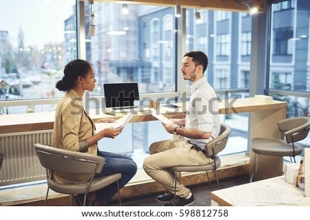 Professional Human Resources Manager Conducting Interview Stockfoto