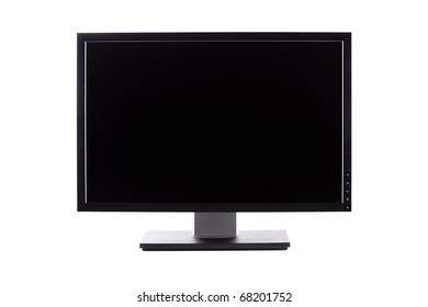 professional IPS panel wide LCD monitor, isolated on white