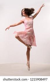 professional jumping ballet female dancer