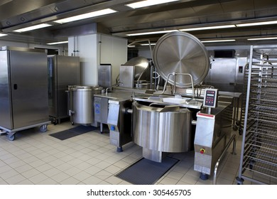 Professional kitchen in a canteen for collectivity