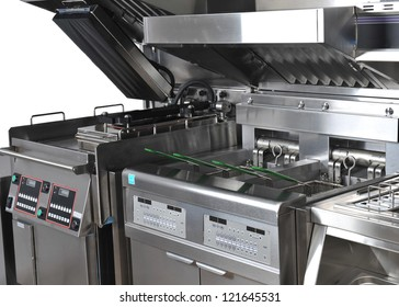 Professional kitchen for fast-food
