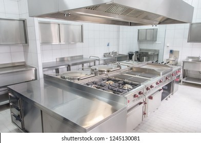 Professional kitchen interior, clean and new