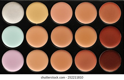 a professional make up palette - the concealers