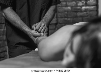 a professional makes a massage