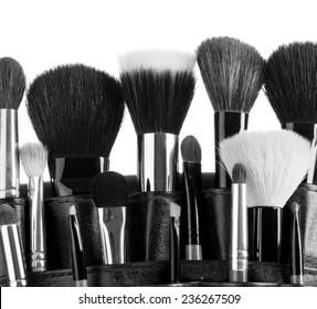 Professional make-up brush cosmetic isolated on white background