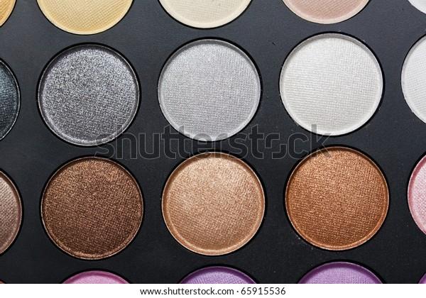 Professional makeup palette; neutral colours