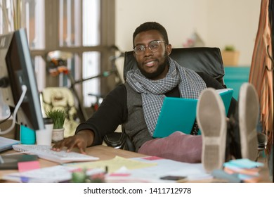 Professional man working in a relaxed creative office