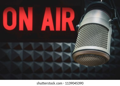 Professional microphone on air