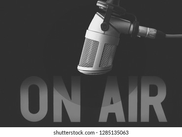 Professional microphone and on air sign